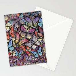 butterflies aflutter colorful version Stationery Cards