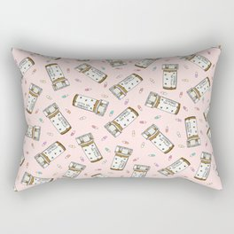 Rainbow Pill Pattern Rectangular Pillow
