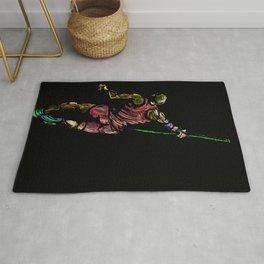 Javelin Throw Athlete Original Digital Drawing Rug