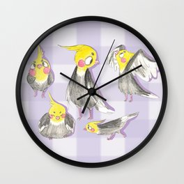 cockatiels! Wall Clock