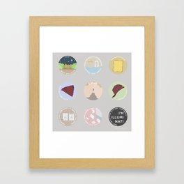EVAK: A MINIMALIST LOVE STORY Framed Art Print