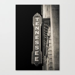 Tennessee Sign Canvas Print