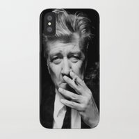 lynch iPhone & iPod Cases featuring David Lynch by Tia Hank