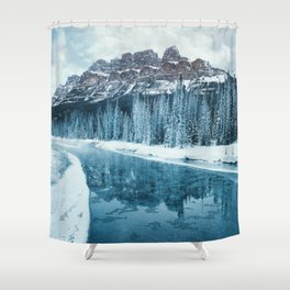 Frosty Morning at Castle Mountain Shower Curtain