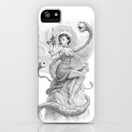 Astro Babe B&W iPhone Case