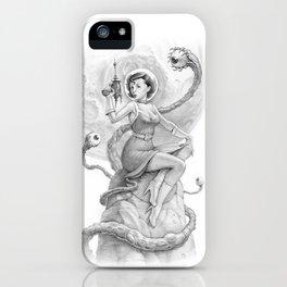 Astro Babe B&W iPhone Case