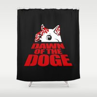 doge Shower Curtains featuring Dawn of the Doge by Tabner's