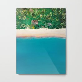 Tropical Beach Vibes | Aerial Photography  Metal Print