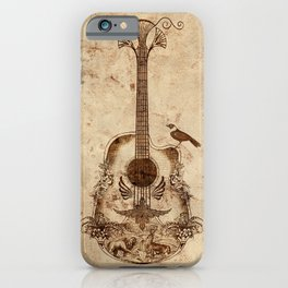 The Guitar's Song iPhone Case