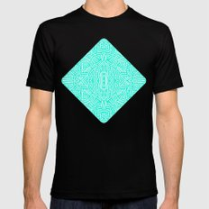 Radiate (Mint) LARGE Black Mens Fitted Tee