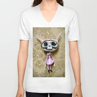 luna V-neck T-shirts featuring Luna by meme