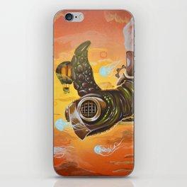 flying  steampunk turtle iPhone Skin