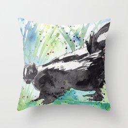 Skunk Life Throw Pillow