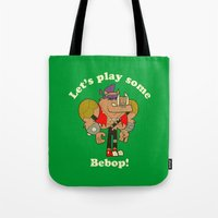 bebop Tote Bags featuring Bebop by Giovanni Costa