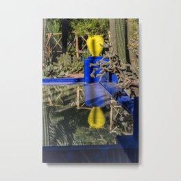 Majorelle Garden Reflection Metal Print