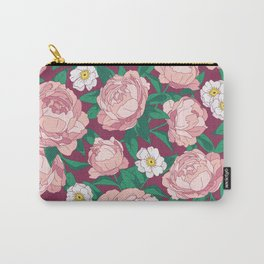 Bouquet of pink peonies. Illustration. Carry-All Pouch