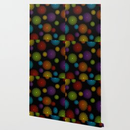 Colorful Christmas snowflakes pattern- holiday season gifts- Happy new year gifts Wallpaper