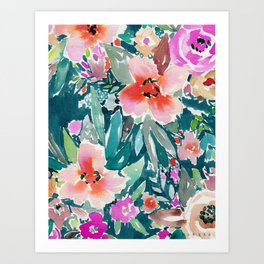 WOOT Tropical Watercolor Floral Art Print