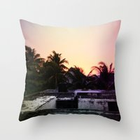 mexico Throw Pillows featuring Mexico by Lauren Emily