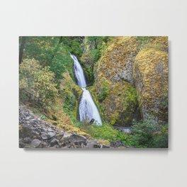 Wahkeena Falls in the Columbia River Gorge Metal Print