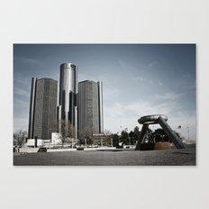 Detroit's Hart Plaza Canvas Print