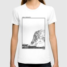 Escapism : Great Heights  Womens Fitted Tee White MEDIUM