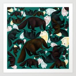 Marten tropical pattern Art Print