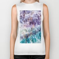crystals Biker Tanks featuring crystals  by lokyic
