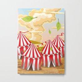 Cartoon circus Tent. Metal Print