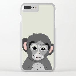 Monkey print Clear iPhone Case