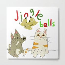 jingle bell kittens Metal Print