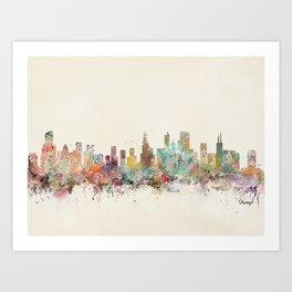 chicago illinois skyline Kunstdrucke