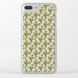 poppy seed pod cut outs Clear iPhone Case