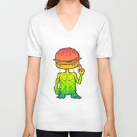 et V-neck T-shirts featuring ET Burger by beeisforbear