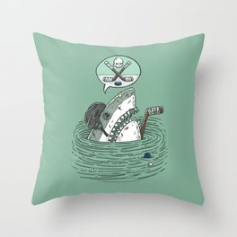 The Enforcer Shark Throw Pillow
