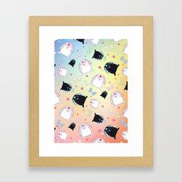 Mokona's Pattern Framed Art Print