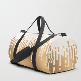 Marble and Geometric Diamond Drips, in Gold Duffle Bag