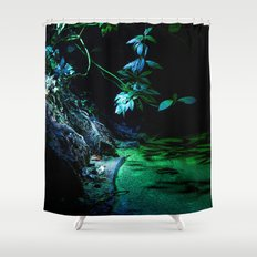 Leaf lighting Shower Curtain