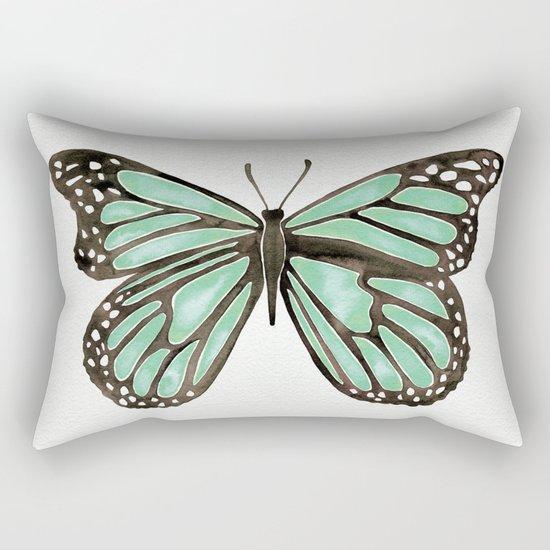 Mint Butterfly Rectangular Pillow