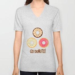 Go doNUTS! Unisex V-Neck