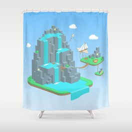 Crystal Mountain Shower Curtain