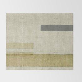 """Burlap Texture Natural Shades"" Throw Blanket"