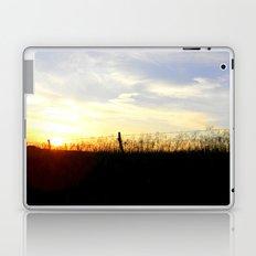 Sunset Behind the Fence Laptop & iPad Skin