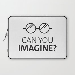 Can You Imagine John Classic Glasses Design Laptop Sleeve