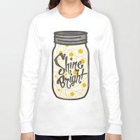 fireflies Long Sleeve T-shirts featuring Fireflies by Landon Sheely