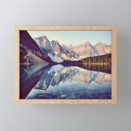 Moraine Lake Reflection Framed Mini Art Print