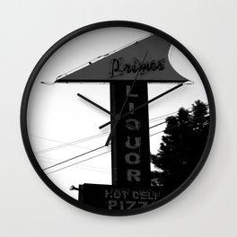 Primo's Liquor and Deli Sign Wall Clock