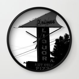 Primo's Liquor and Deli Sign Wall Clock