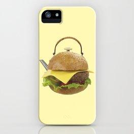 Kettle hamburger iPhone Case
