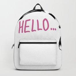 Melania Trump Hello Meme Backpack